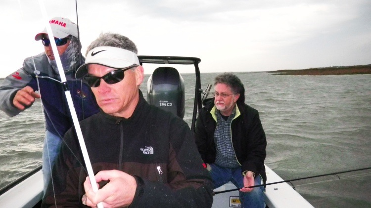 Pat goes after red fish with Dr. Ware